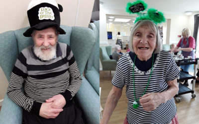 Sonya Lodge Residential Care Home residents dress up for St Patricks Day