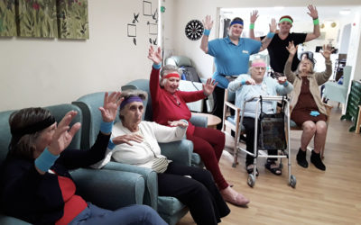 Keeping fit and active at Sonya Lodge Residential Care Home