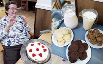 Cheesecake and cookie delights at Sonya Lodge Residential Care Home