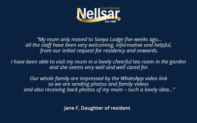 Praise for our staff and care at Sonya Lodge Residential Care Home