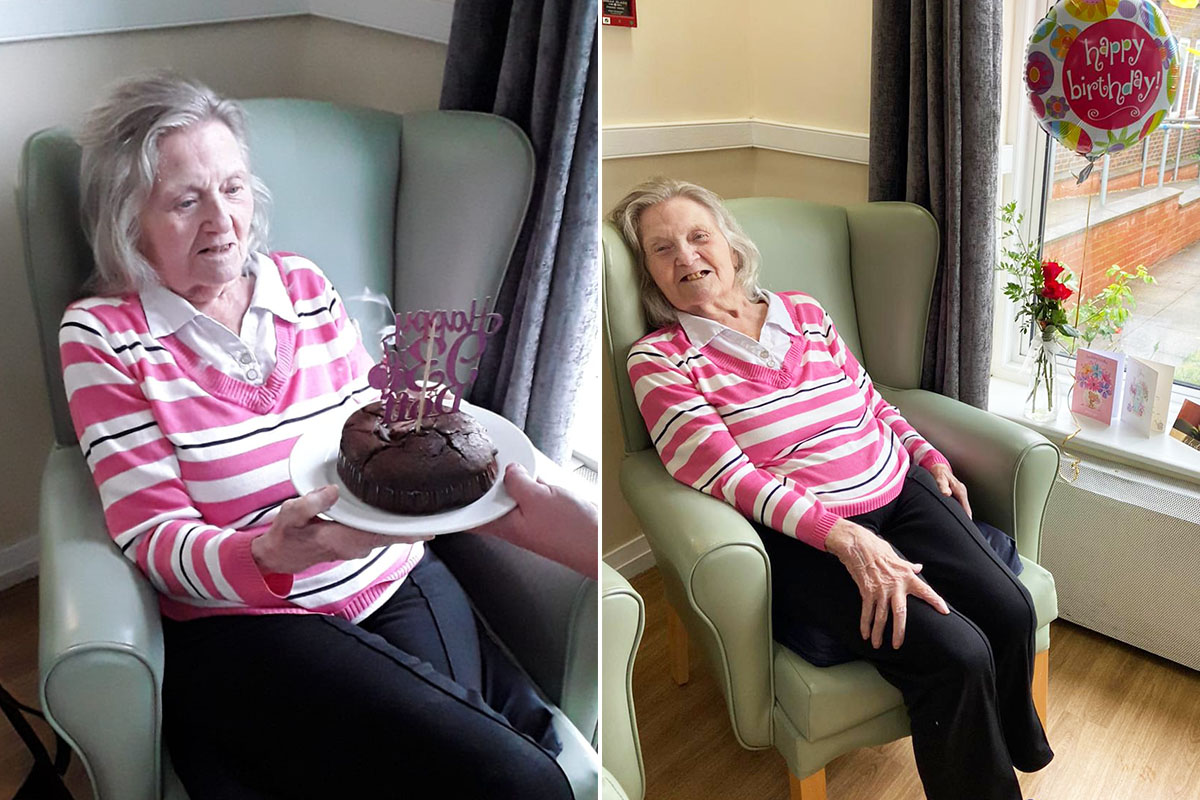 Doff celebrates her birthday at Sonya Lodge Residential Care Home