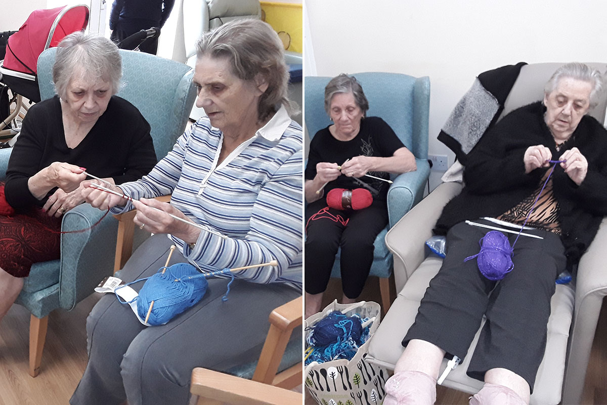 Sonya Lodge Residential Care Home launch knit and natter group