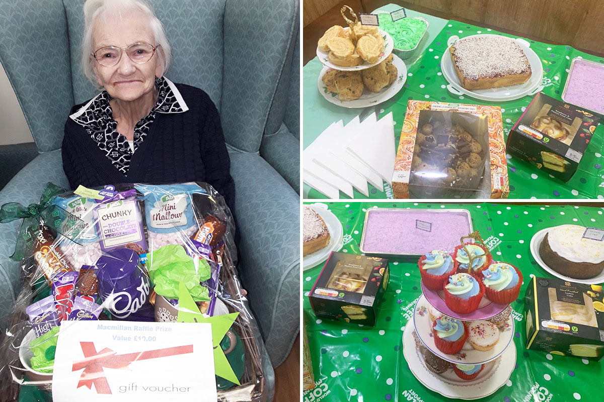Sonya Lodge Residential Care Home holds coffee morning and raffle for Macmillan