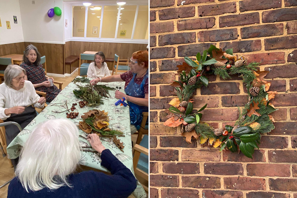 Bringing autumn nature inside at Sonya Lodge Residential Care Home