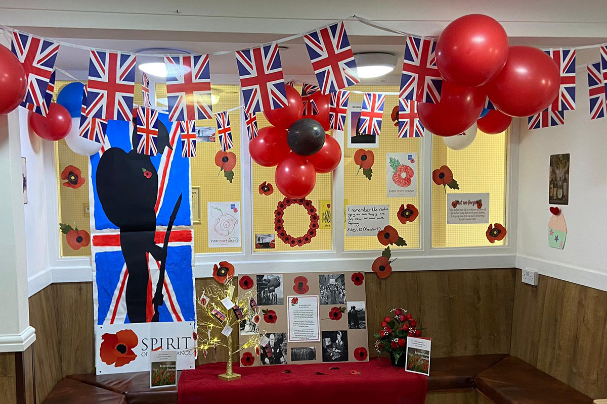 Remembrance Sunday at Sonya Lodge Residential Care Home