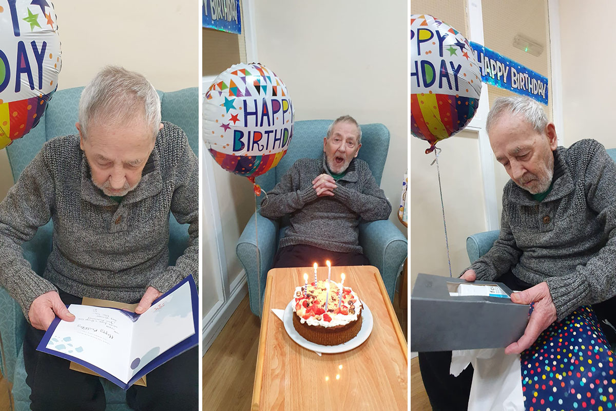 Happy birthday to Ted at Sonya Lodge Residential Care Home