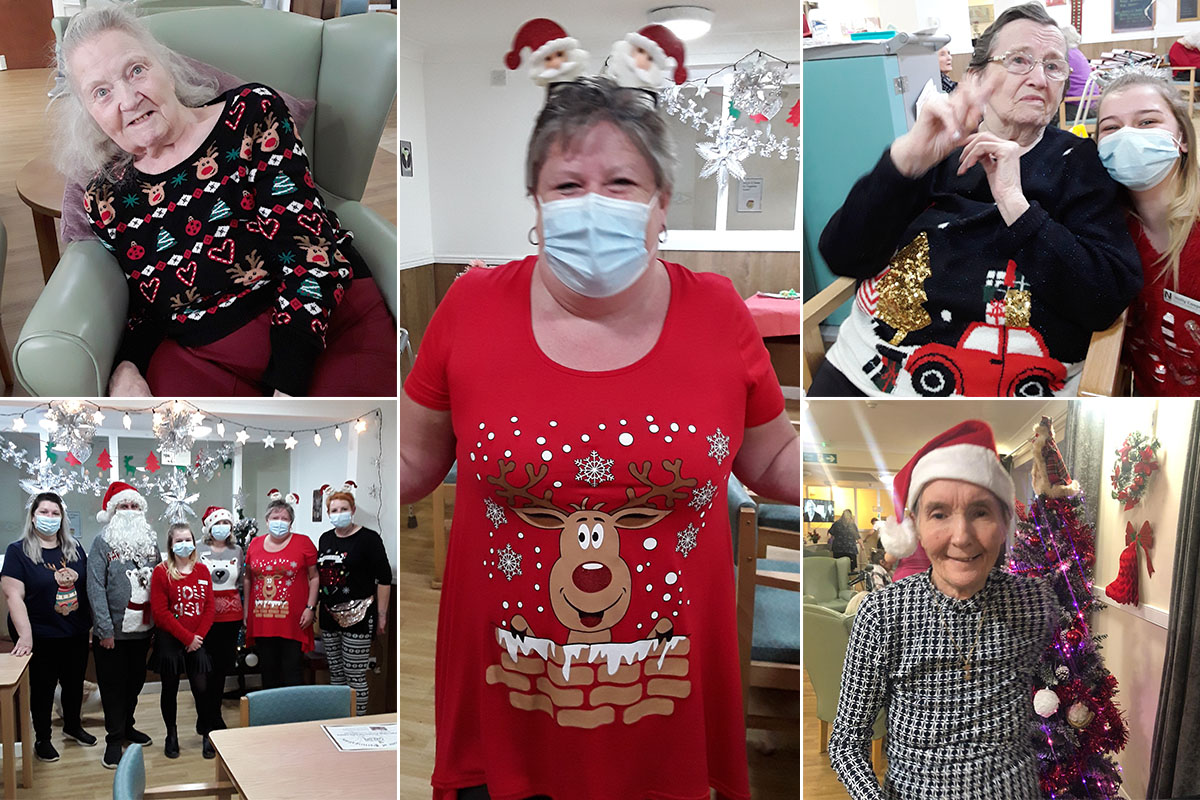 Christmas jumper and t shirt day at Sonya Lodge Residential Care Home