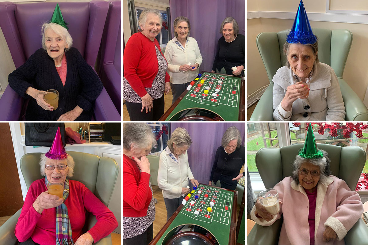 Casino and mocktails at Sonya Lodge Residential Care Home