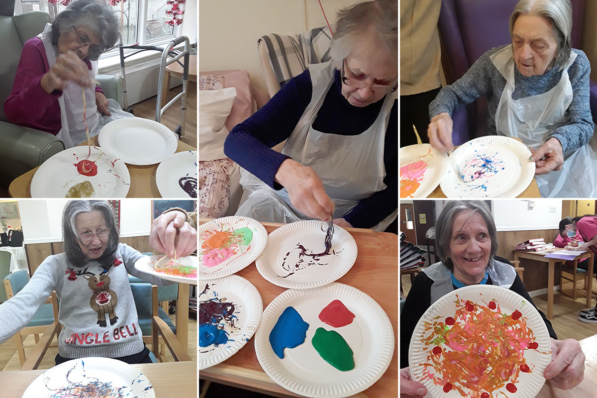 Celebrating spaghetti and shortbread at Sonya Lodge Residential Care Home