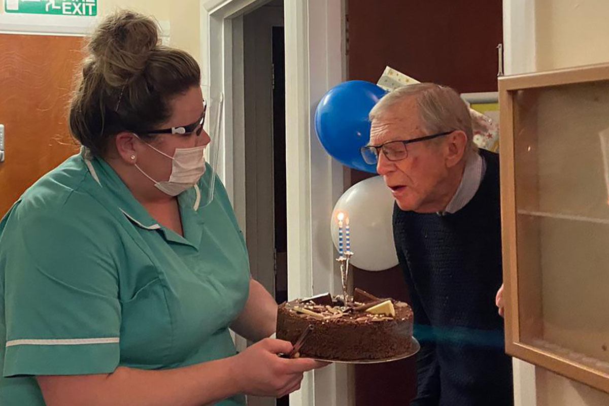 Happy birthday to Arthur at Sonya Lodge Residential Care Home