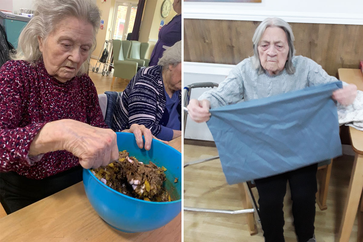 Cake makers and laundry helpers at Sonya Lodge Residential Care Home