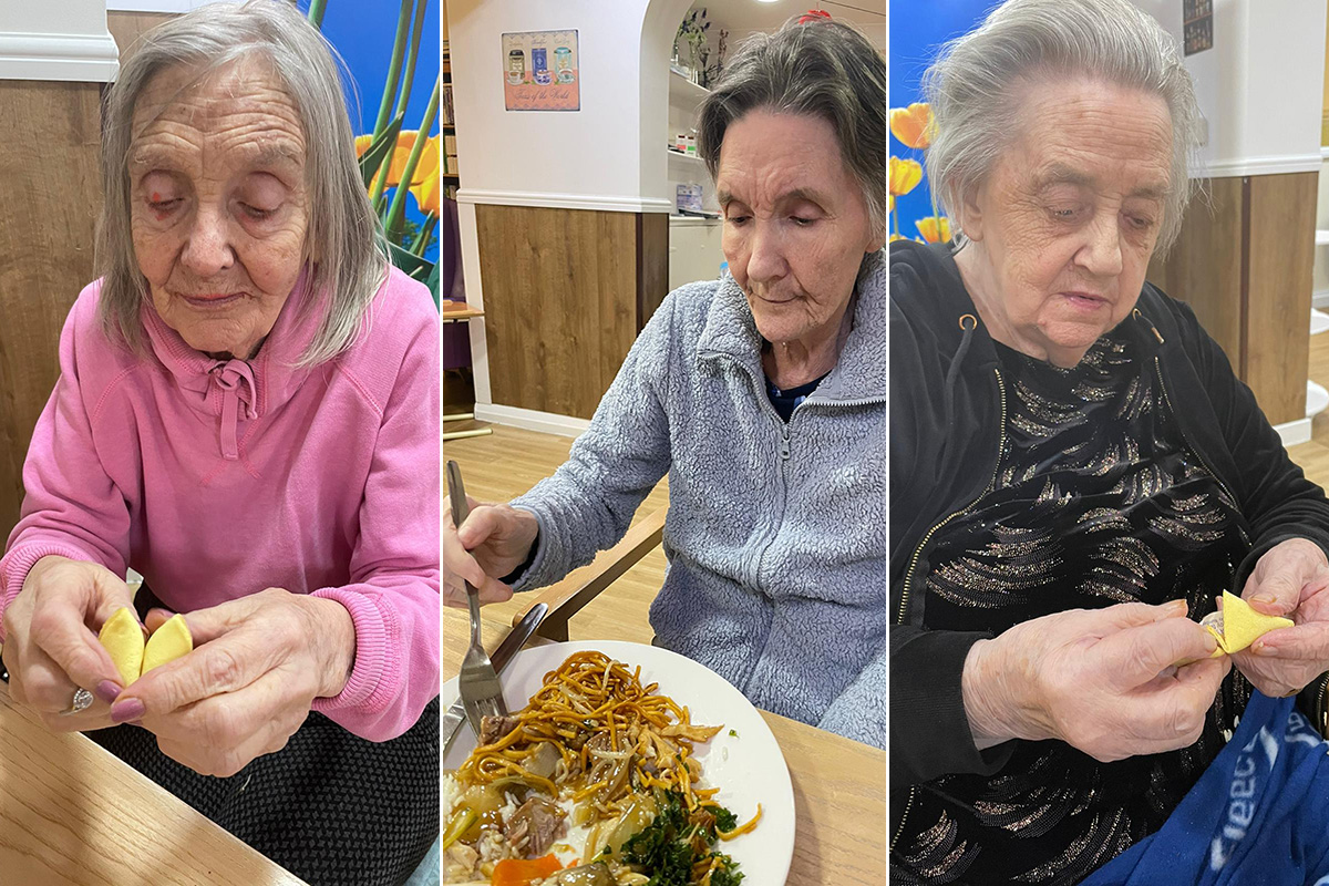 Sonya Lodge Residential Care Home residents enjoy a tasty Chinese New Year