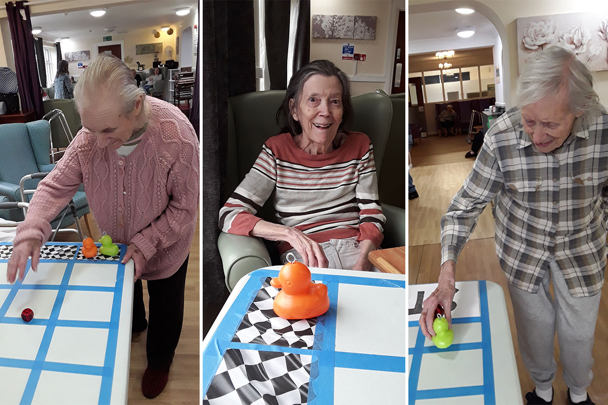 Badminton and duck racing fun at Sonya Lodge Residential Care Home