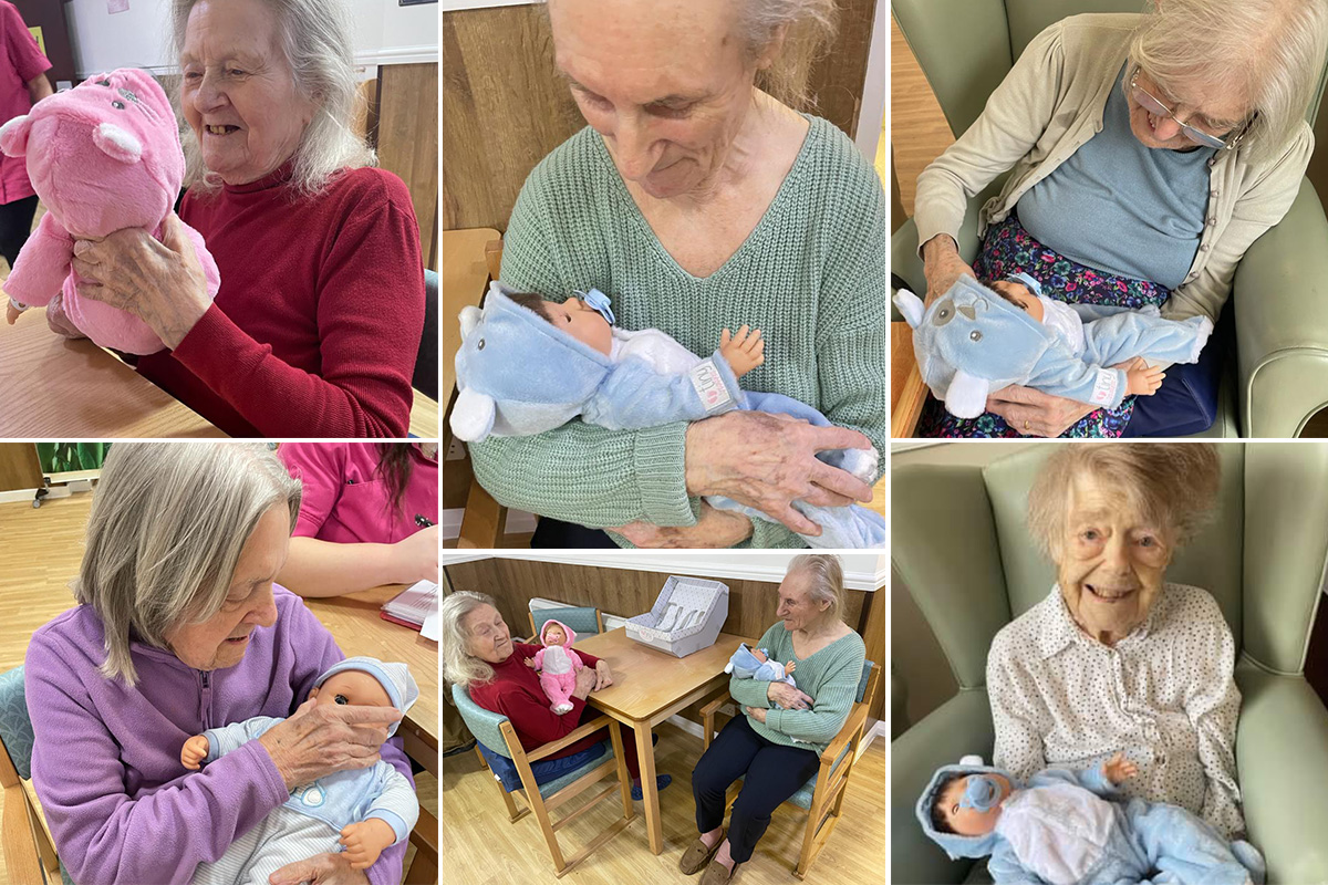 Sonya Lodge Residential Care Home residents welcome twins