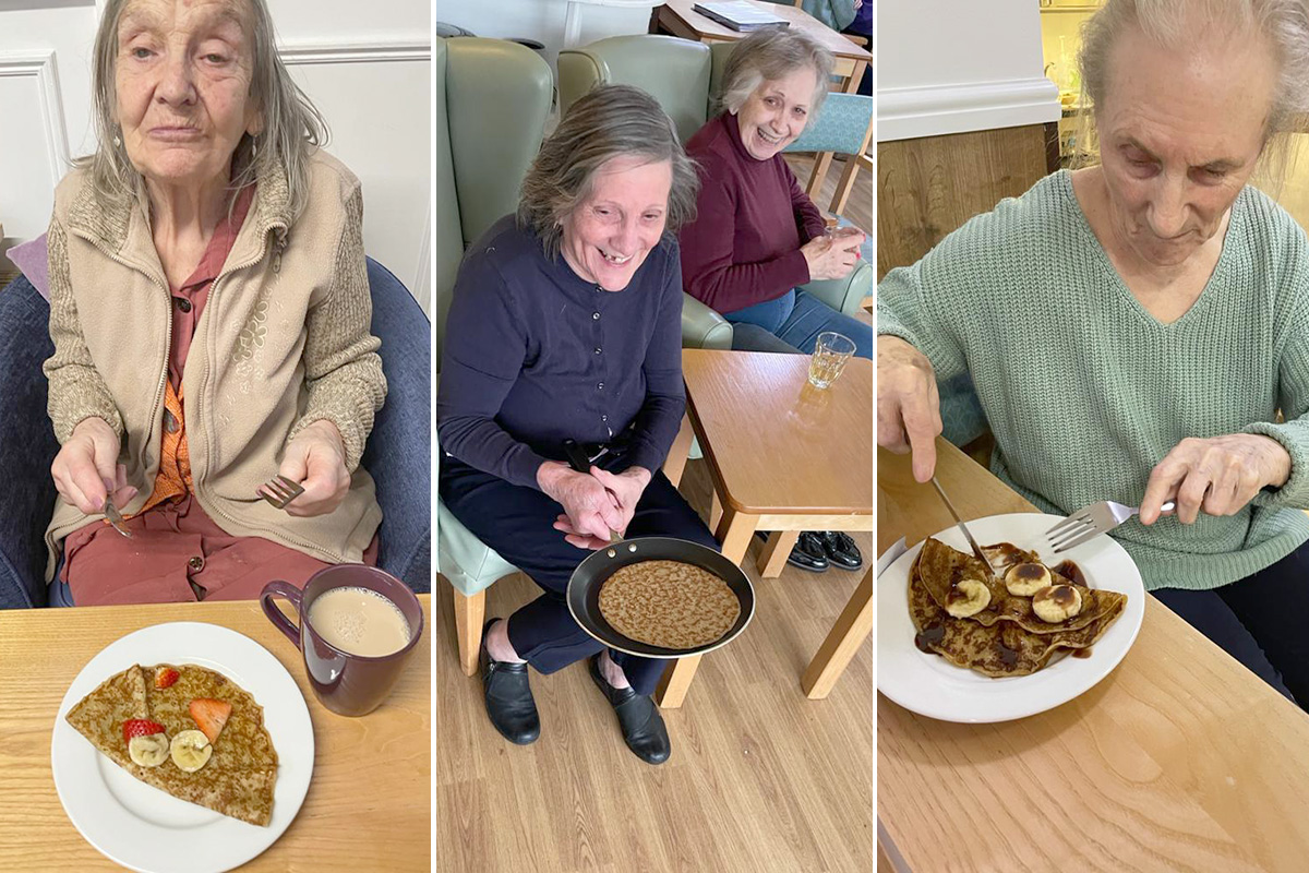 Shrove Tuesday fun at Sonya Lodge Residential Care Home