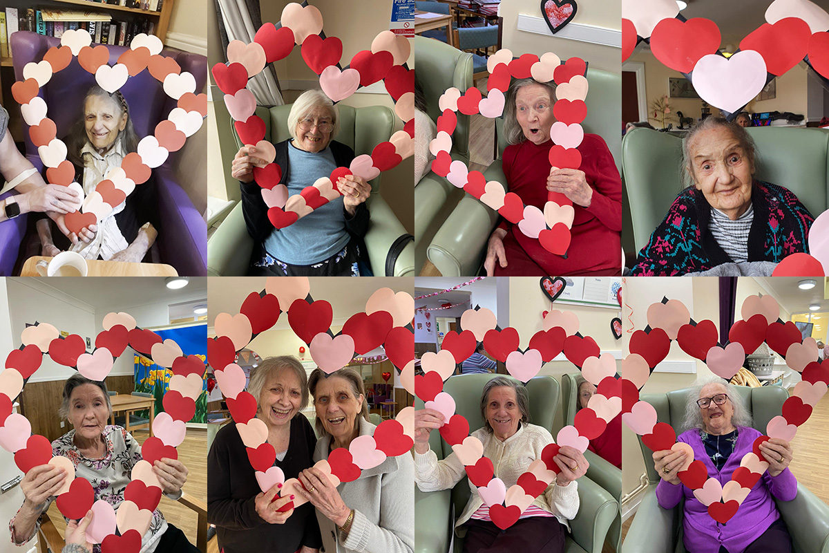 Valentines love at Sonya Lodge Residential Care Home